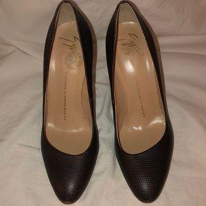 Giuseppe zanotti design brown heel pumps size 37 7